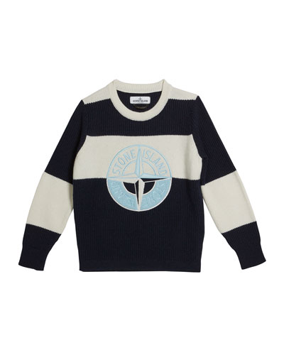 Colorblock Logo Embroidered Sweater  Size 8-10 and Matching Items
