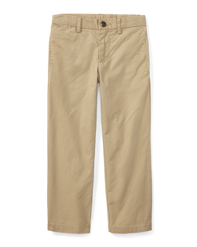 Chino Flat Front Straight Leg Pants