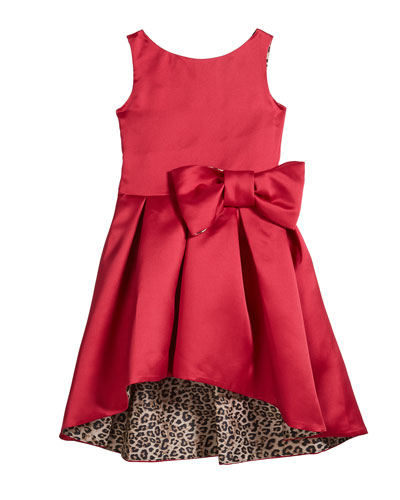 Girl's Sleeveless High-Low Sateen Dress w/ Leopard Lining  Size 4-6X and Matching Items
