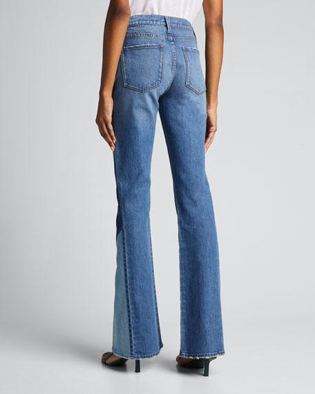 Le High Flare Diagonal Block Jeans