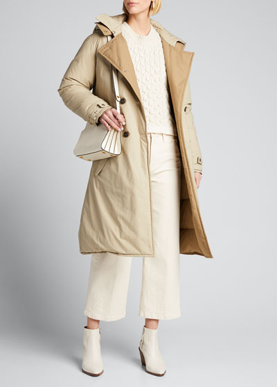 Marcelle Double-Breasted Puffer Coat