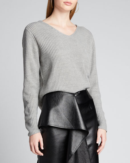Ballet Twisted Cutout-Back Sweater