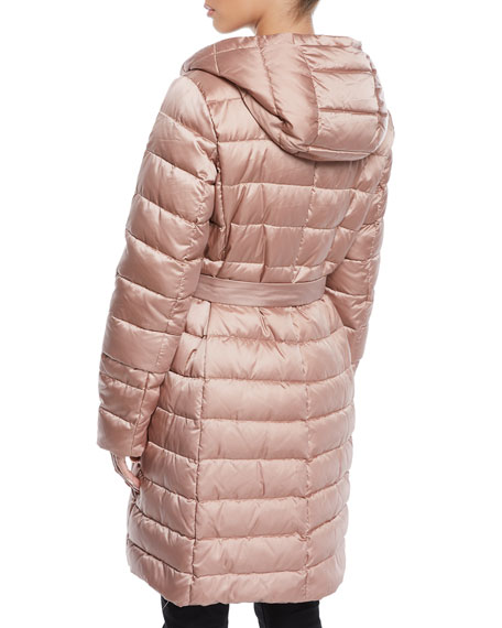 Here is the Cube Collection Novef Reversible Belted Down Jacket