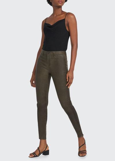 Leather Super Skinny Pants  Noir
