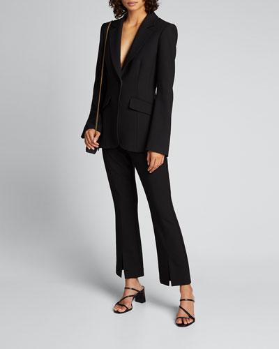 Kym Single-Button Blazer