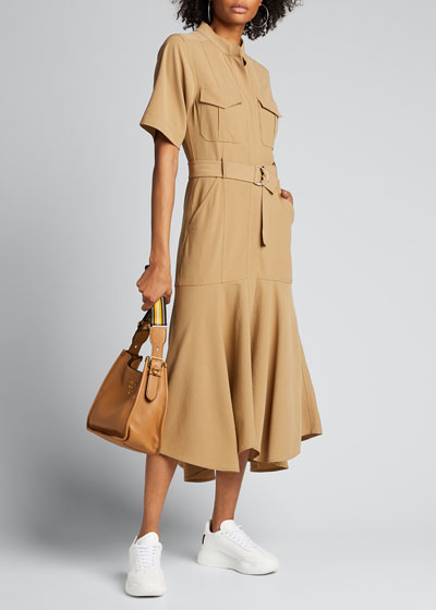 Emma Belted Midi Shirt Dress