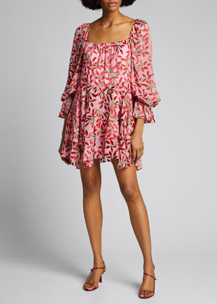 New Ladies Womens Olivia Floral Deep Plunge Shift Dress SIze 8,10,12,14,16