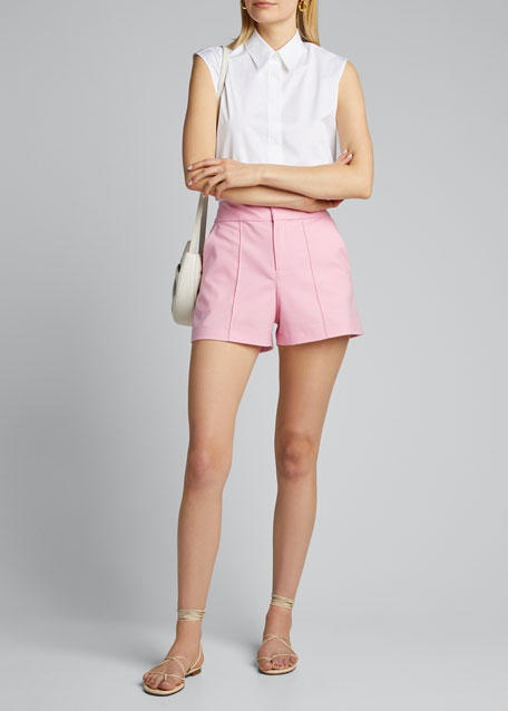 Image 1 of 1: Dylan High-Waist Pintuck Shorts
