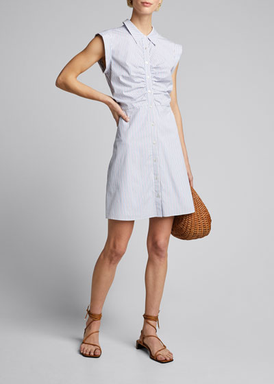 Ferris Striped Button-Down Dress