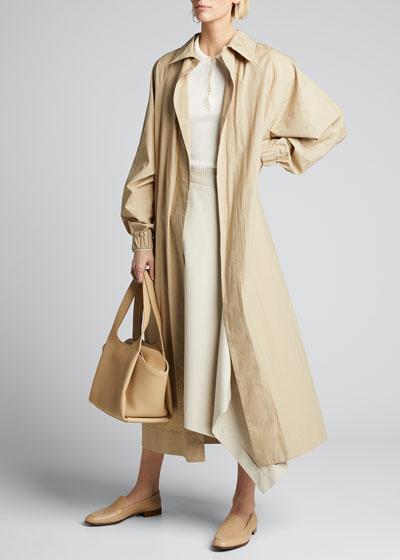 Fluid Long Cotton Coat