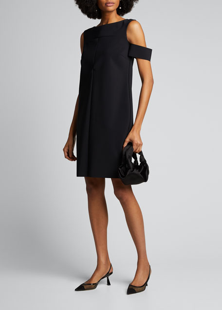 Cold-Shoulder Cocktail Dress