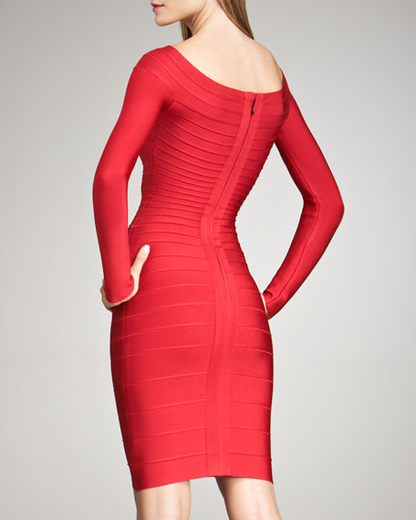 Long-Sleeve Bandage Dress