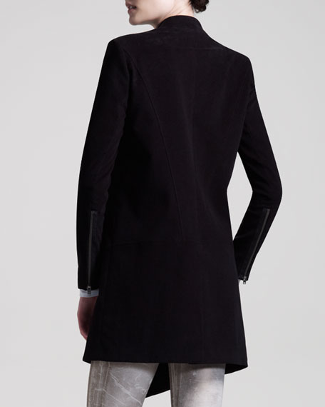 Stretch Moleskin Zip Coat