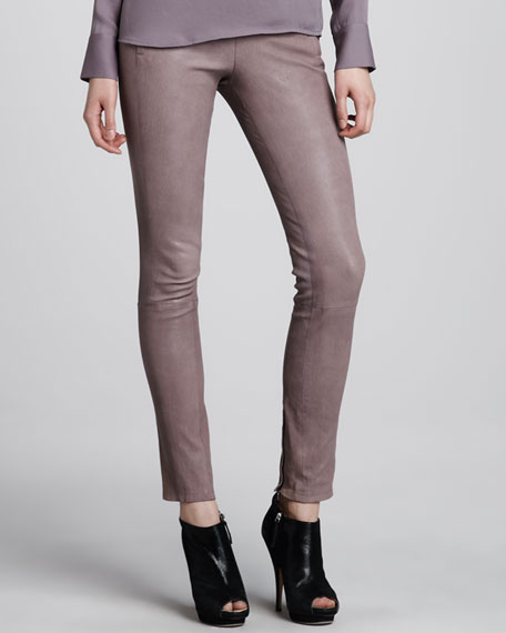 Morgan Leather Skinny Pants