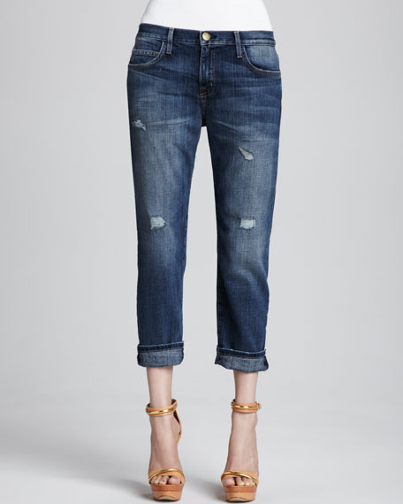 Image 1 of 1: Boyfriend Loved Destroyed Cuffed Jeans