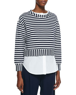 Striped 2-in-1 Sweatshirt