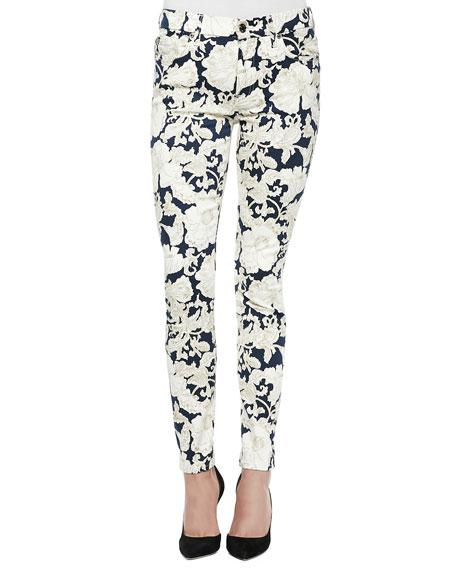 8bb479e48ee7 7 For All Mankind Floral-Print Skinny Ankle Jeans