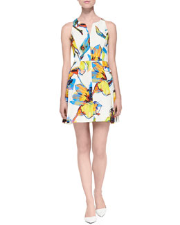 Pop Art Flora Printed Racerback Dress