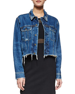 The Cropped Boyfriend Denim Jacket