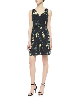 Braydon Floral-Print Silk Dress