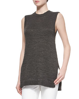 Meenaly Sleeveless Knit Loose Sweater