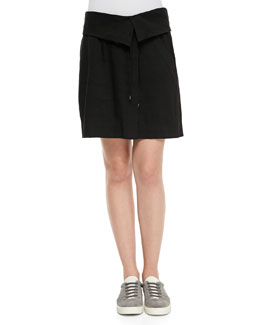 Folded-Waist Relaxed Skirt
