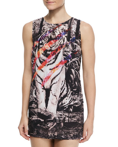 Instinct Tiger-Print Shift Coverup