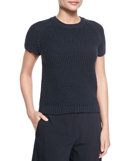 Dontalyn Knit Short-Sleeve Sweater
