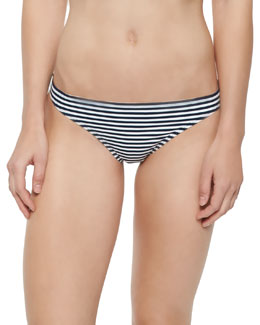 Striped Low-Rise Swim Bottom