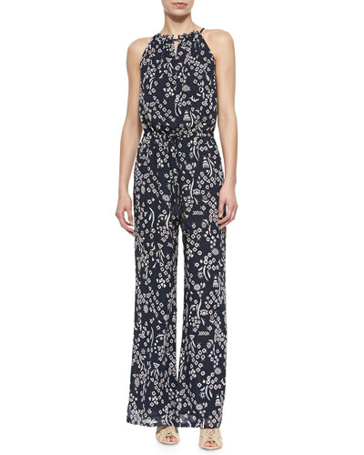 Atelier Printed Sleeveless Jumpsuit