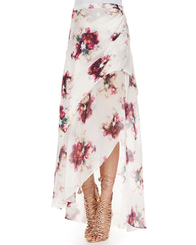 Asymmetric Multi-Layered Maxi Skirt