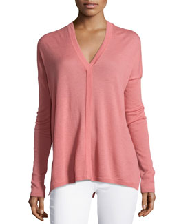 Lightweight Slub-Knit Loose Top