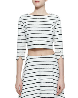 Jayren Boat-Neck Crop Top