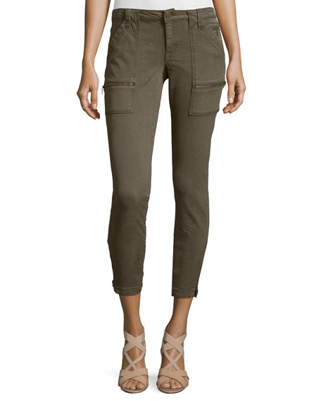 Park Twill Skinny Cargo Pants, Fatigue