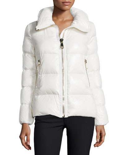 Joux High-Neck Puffer Jacket, White