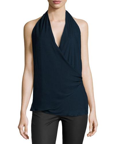 The Summer Silk Halter Top