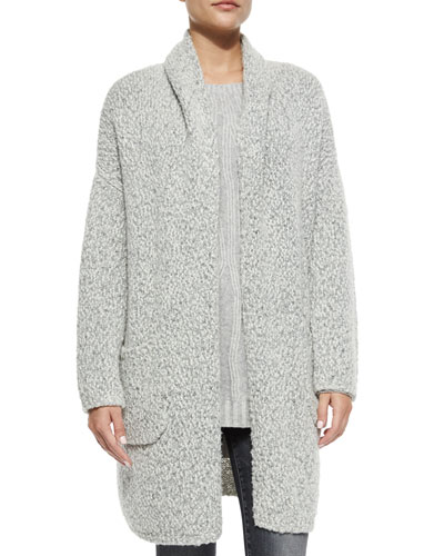 Oversized Long-Sleeve Car Coat