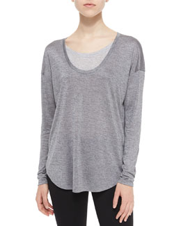 Two-Tone Layered Slub Top
