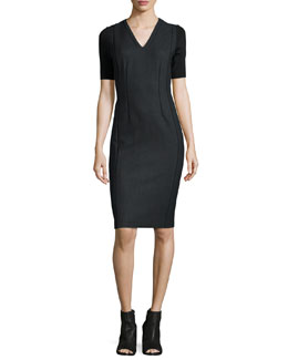 Emmalyn Short-Sleeve Sheath Dress