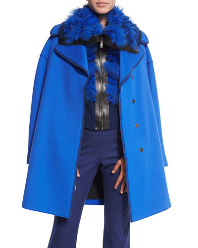 Louisa Coat W/Contrast Trim