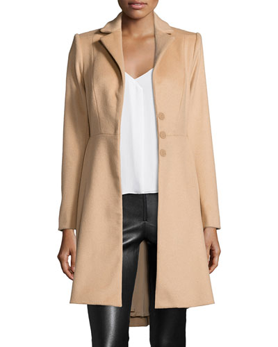 Nikita Fit-and-Flare Peacoat, Camel