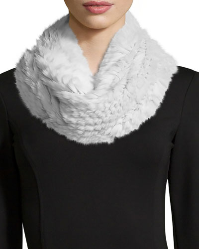 Rabbit Fur Infinity Scarf