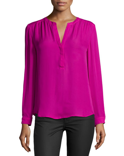 Carita Solid Silk Top