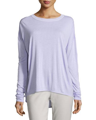 Dropped-Shoulder Long-Sleeve Shirt
