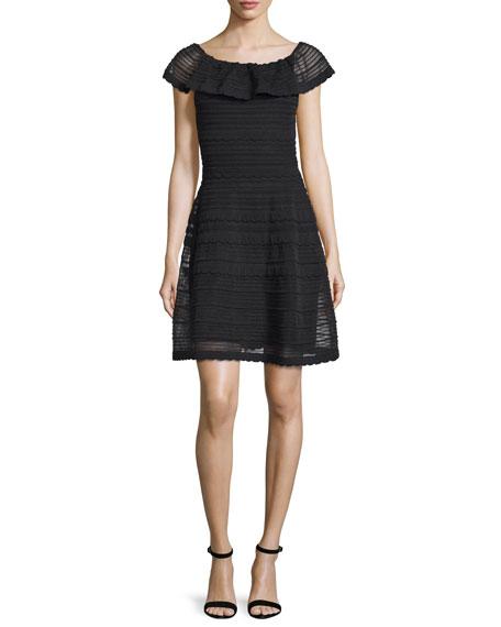 Off-The-Shoulder Scallop Dress