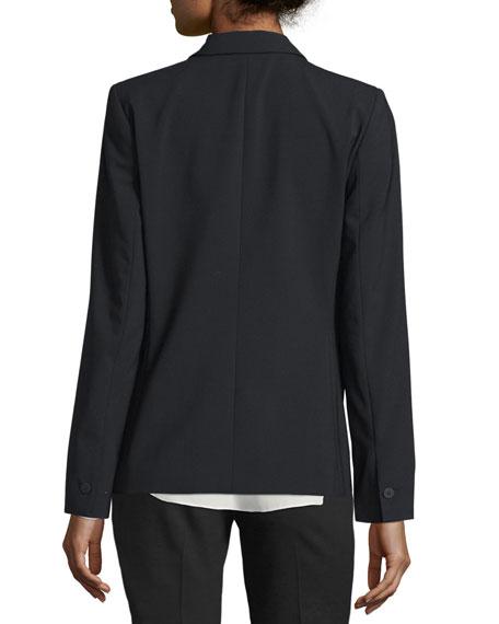Darcy One-Button Stretch-Wool Jacket
