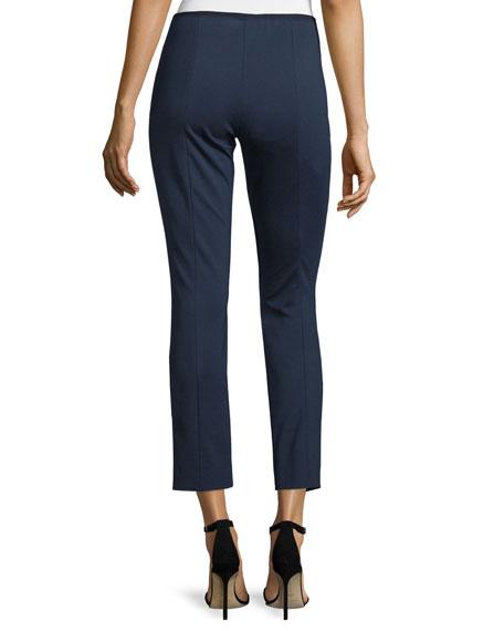 Nova Double-Knit Slim Ankle Pants