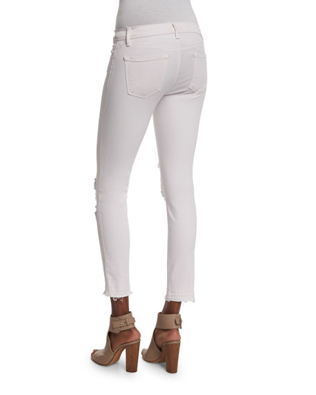 932 Low-Rise Distressed Cropped Jeans, Demented Orchid