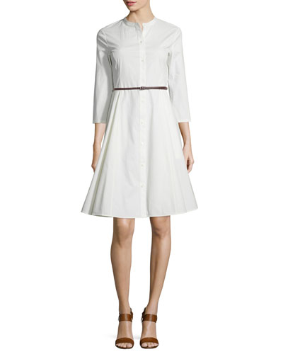 Kalsingas Button-Down Light Poplin Shirtdress
