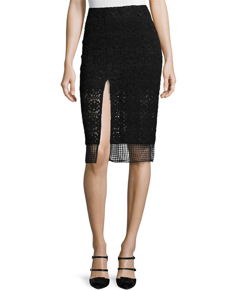 Oli Lace Slit Pencil Skirt